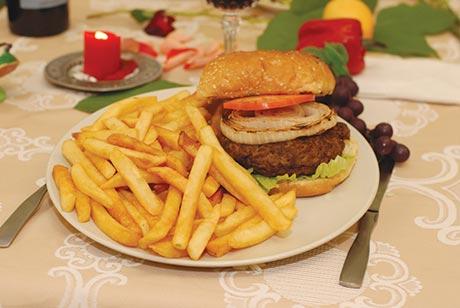 Sababa Grill Hamburger with Fries